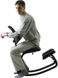 man on kneeling chair