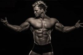 man with muscular