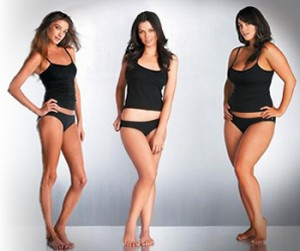 women with 3 different body