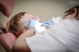 boy with dentist